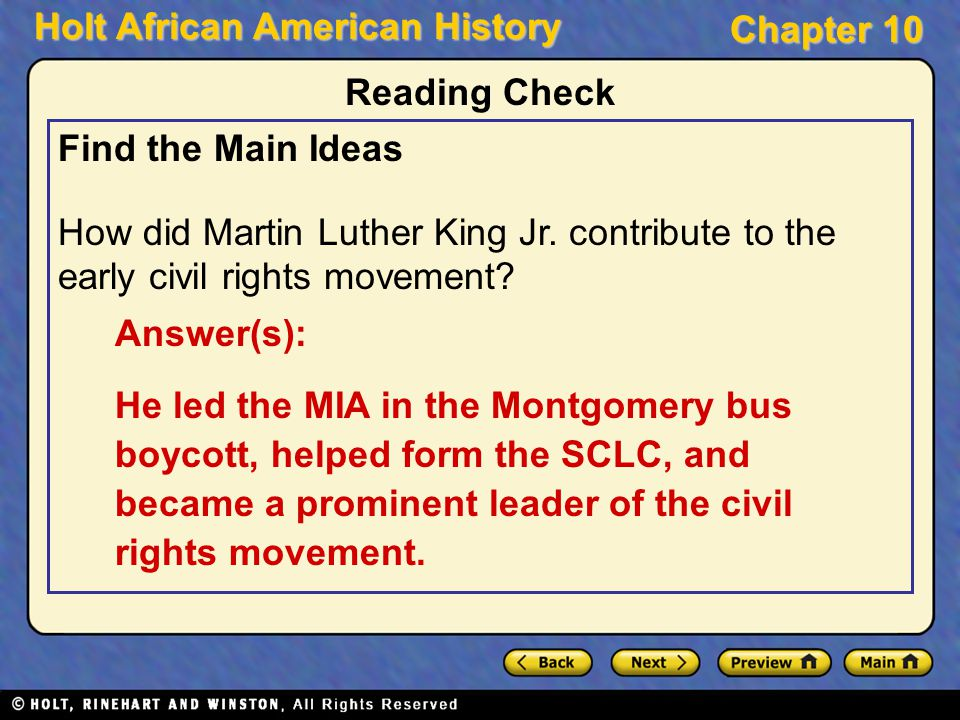 how did montgomery bus boycott lead to civil rights movement Events leading to the civil rights movement,  the purpose of the montgomery bus boycott was to get people to  this event has lead up to the civil rights movement.