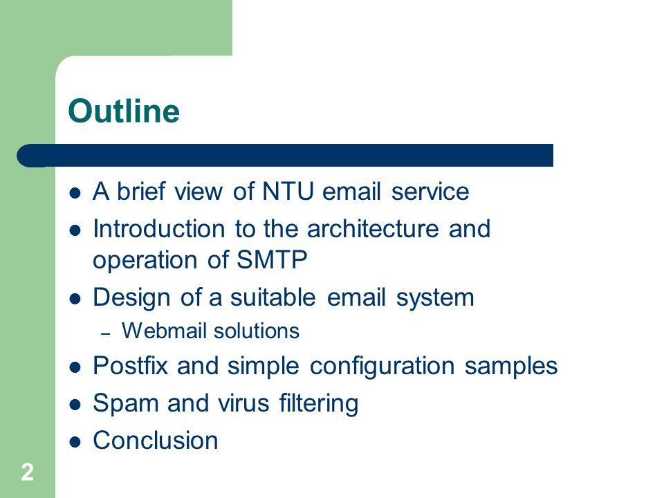 Design and management of service ppt video online download outline a brief view of ntu email service altavistaventures Gallery