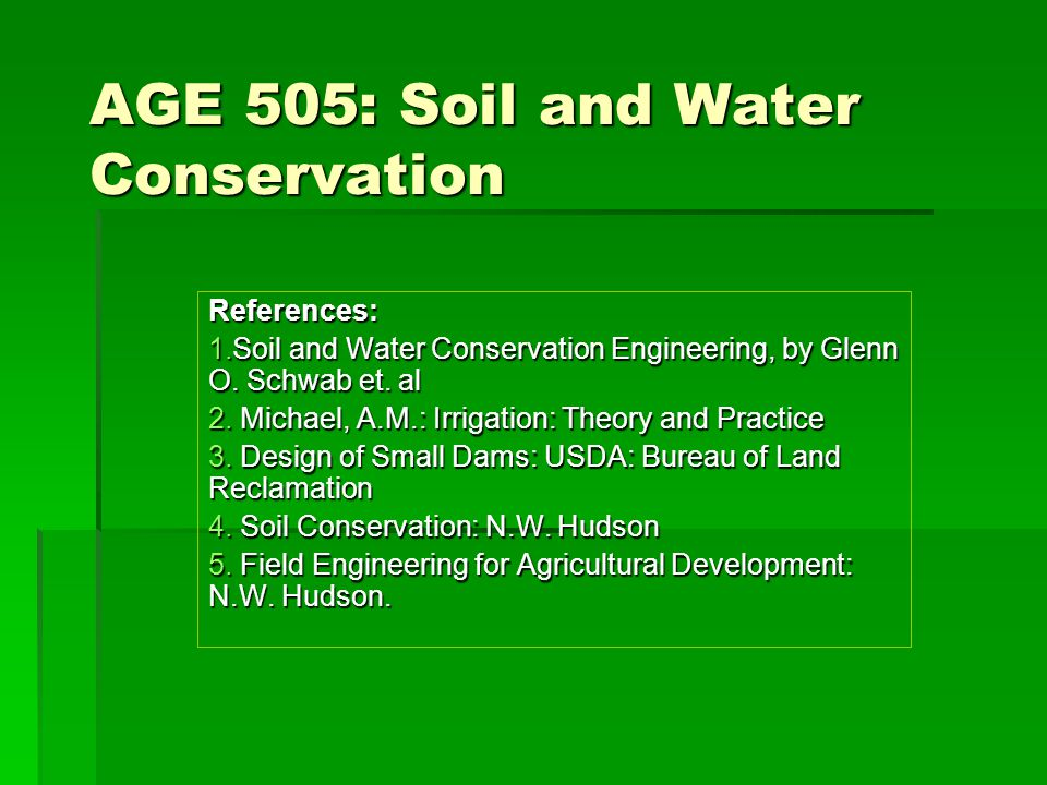 Age 505 soil and water conservation ppt video online for Soil and water facts