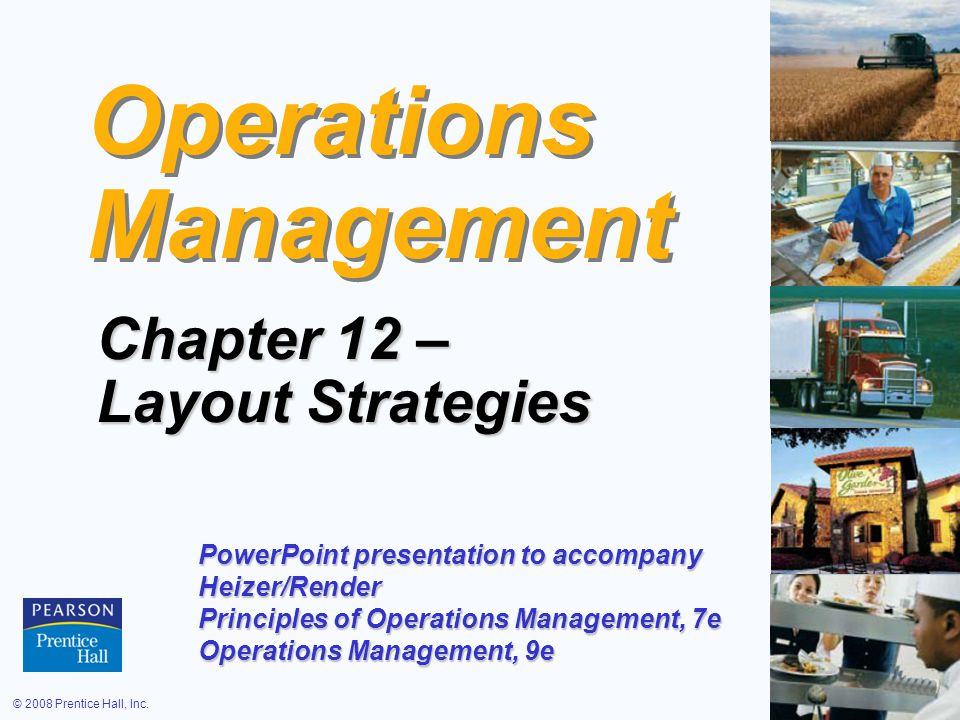 operations management ch 1 Presentation based on chapter 1 in heizer and render.
