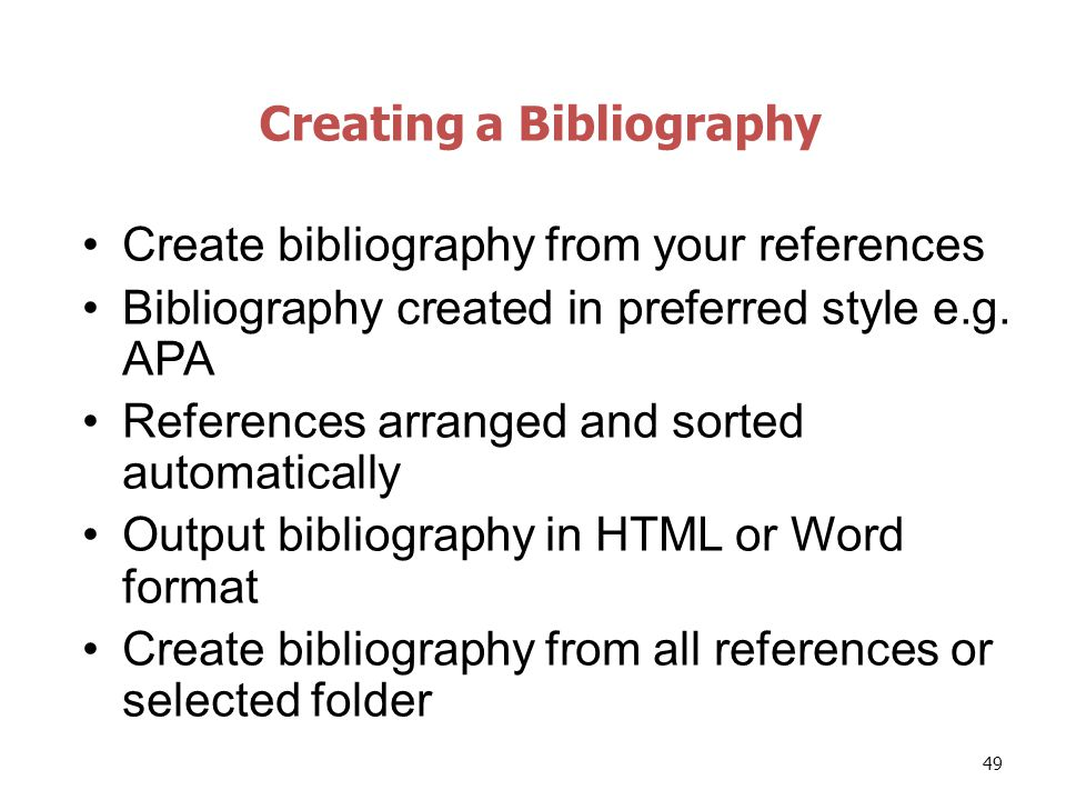 how to create bibliography using word