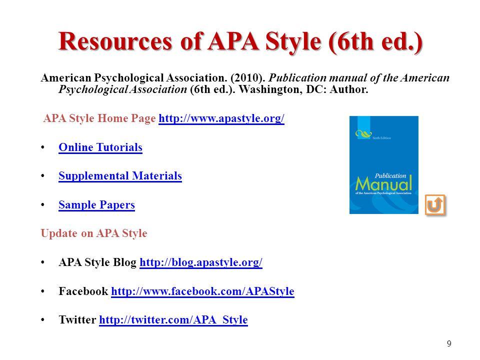 APA Handouts & Tutorials | CUNY School of Professional ...
