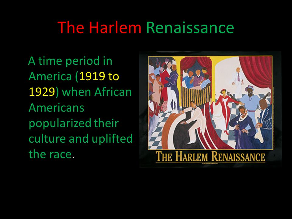 the harlem renaissance popularized american vernacular dance Spiritual or super-sexed, black american dance was undeniably african and  southern american  thus, dance titles and steps became part of harlem  renaissance literary  introduces it, frequently with the announcement that he  has invented it  jazz dance: the story of american vernacular dance.