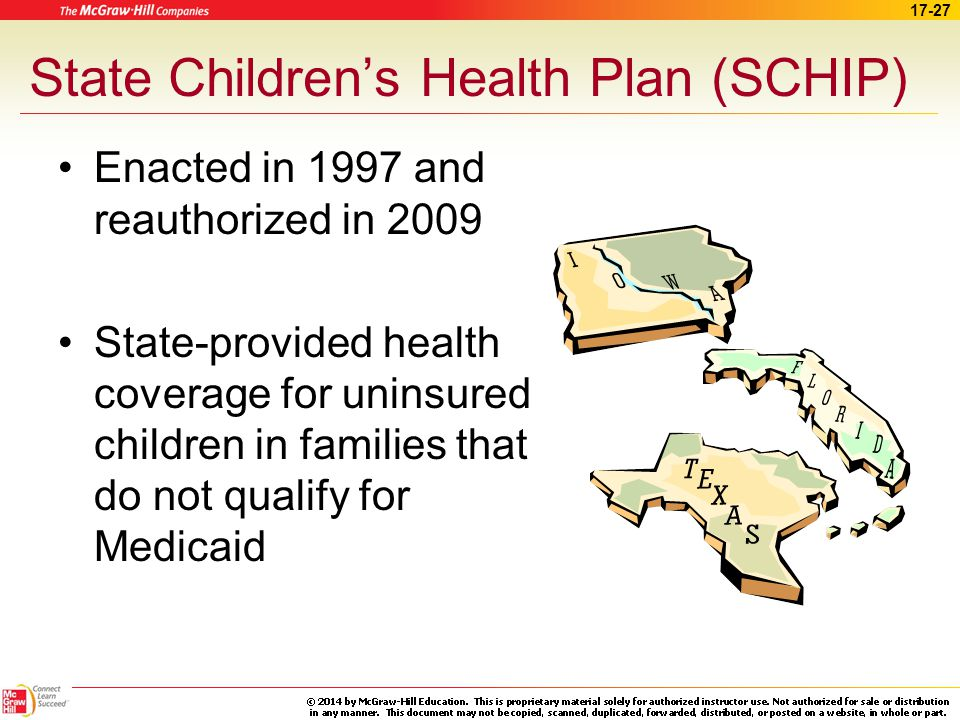 state childrens health insurance program Children's mental health parity is still possible, but advocates are going to have to fight for it congress recently passed a brand new $20 billion block grant.