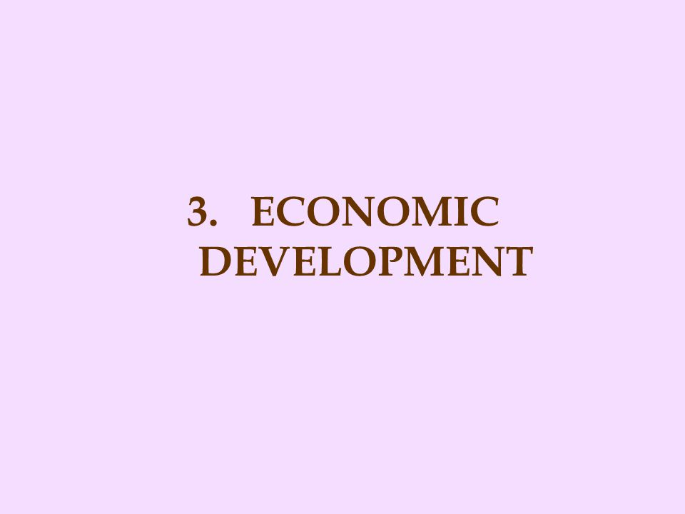 3. ECONOMIC DEVELOPMENT