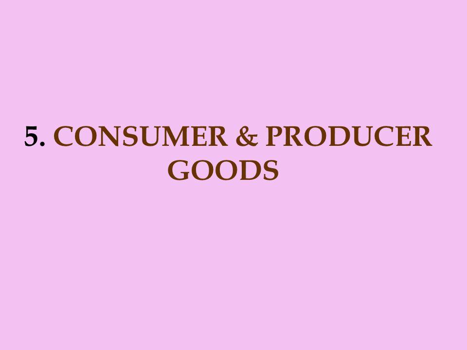 5. CONSUMER & PRODUCER GOODS