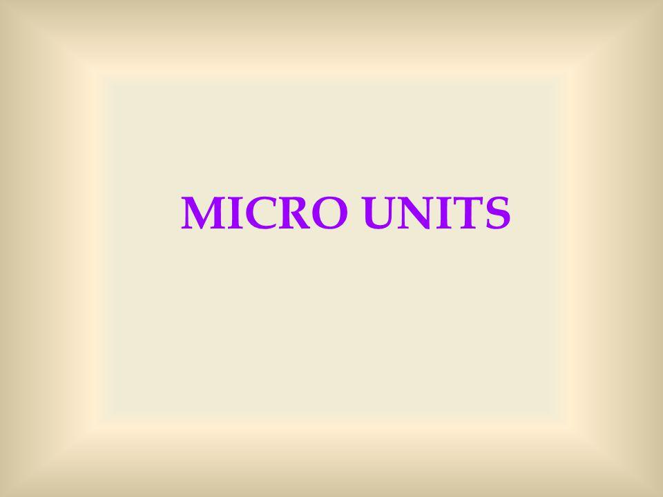 MICRO UNITS