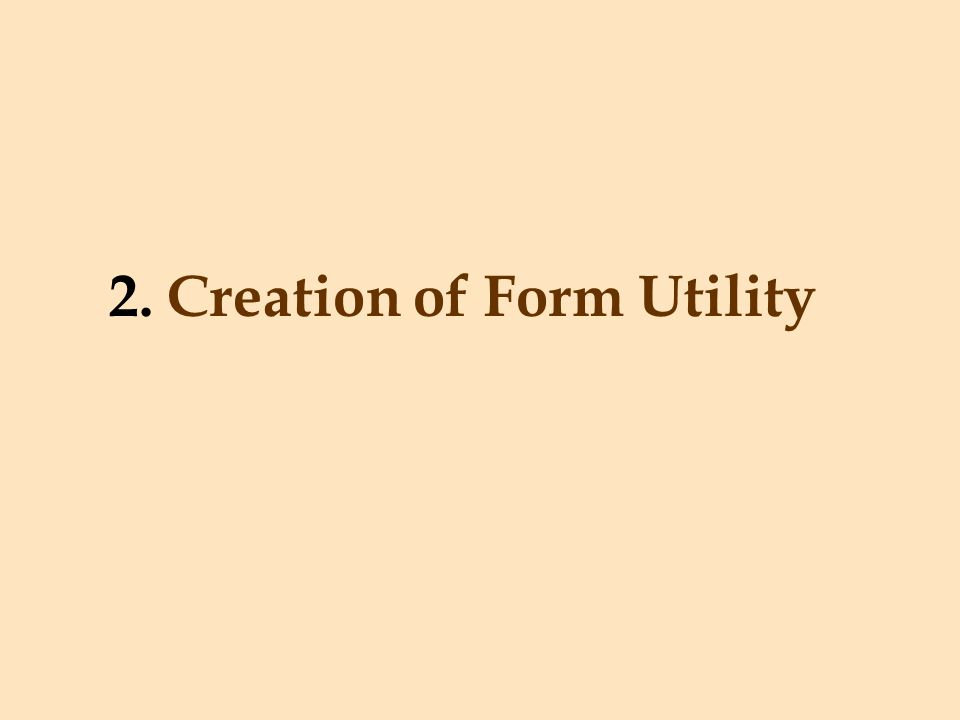 2. Creation of Form Utility