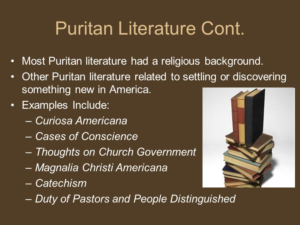 puritan literature In puritan literature, which is based on bible references, the primary intention is to_____.