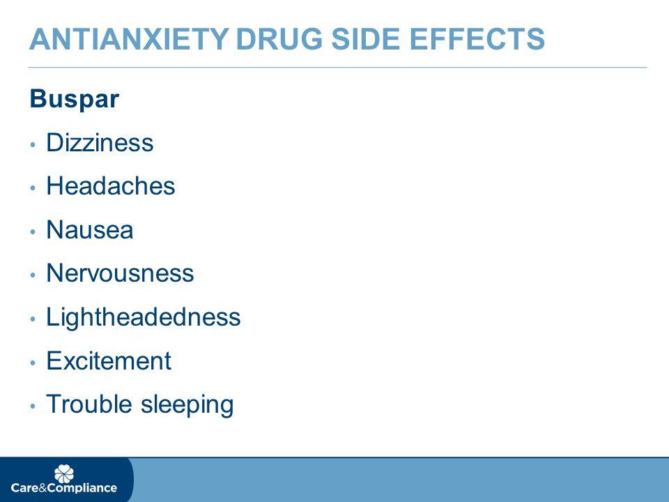 Buspirone Medication Side Effects