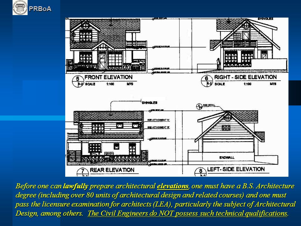 what are the main architectural plans documents ppt