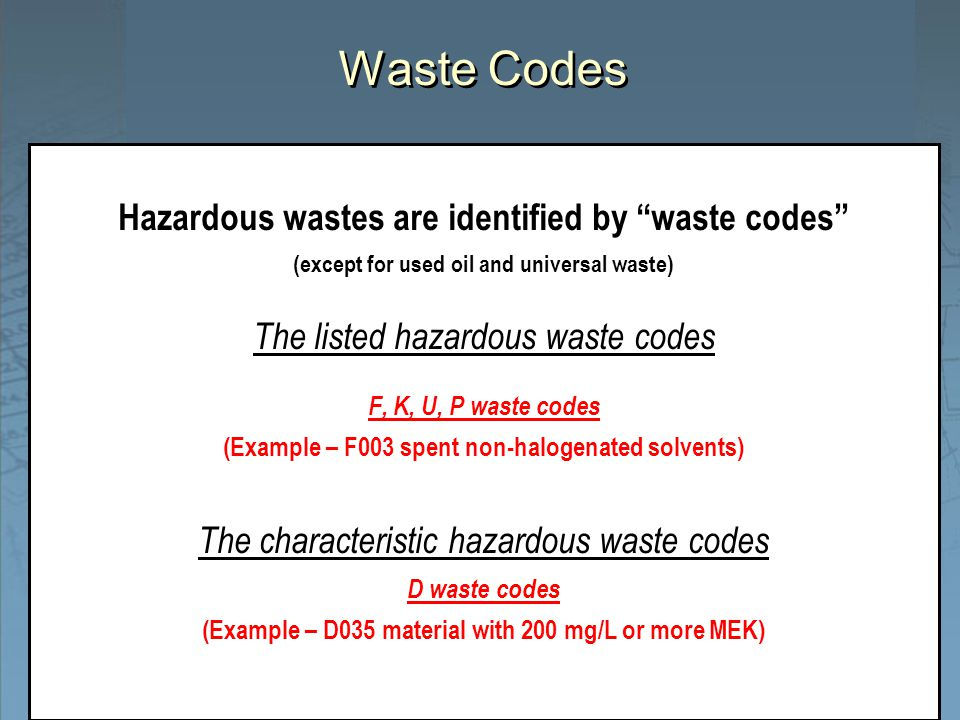What Are P And U Ed Wastes Hazardous