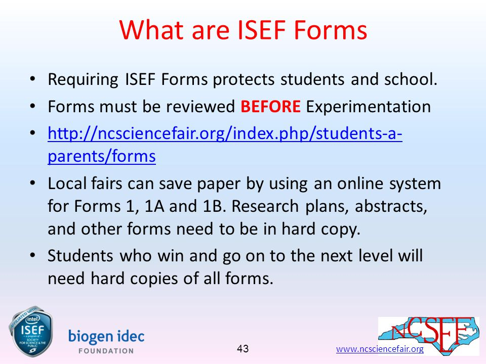 deped intel isef format of writing a research paper To compete at intel isef, a 9th-12th grade student must first win the honor through participation at an ssp-affiliated fair each affiliated fair has a designated number of projects (individual or team) that they may support to come to intel isef.