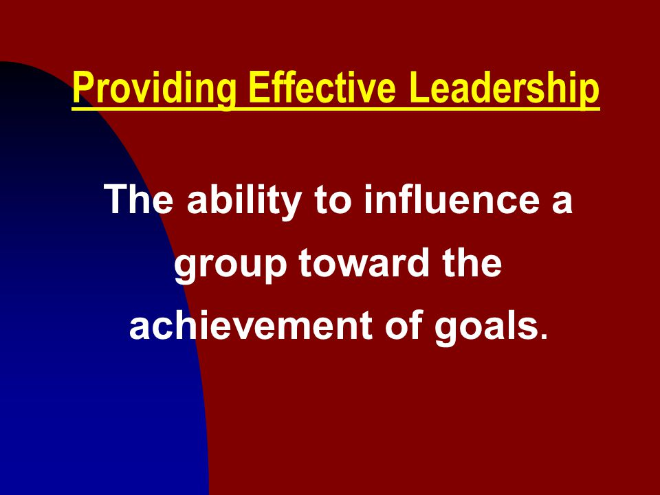 Providing Effective Leadership