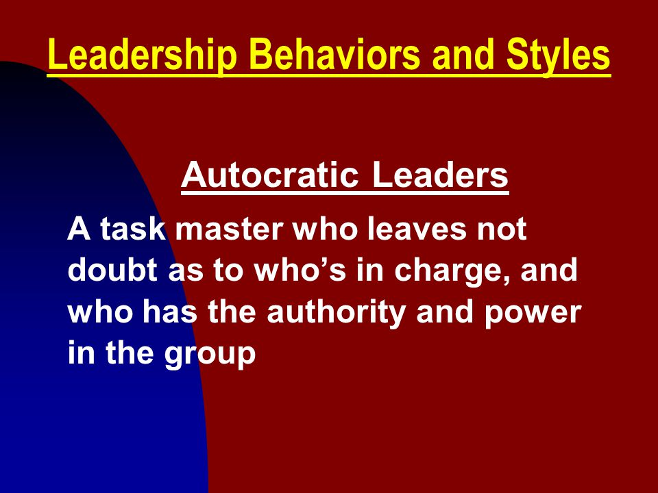 Leadership Behaviors and Styles