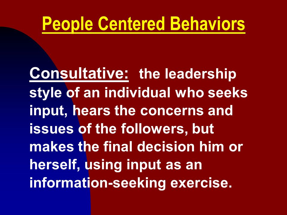 People Centered Behaviors