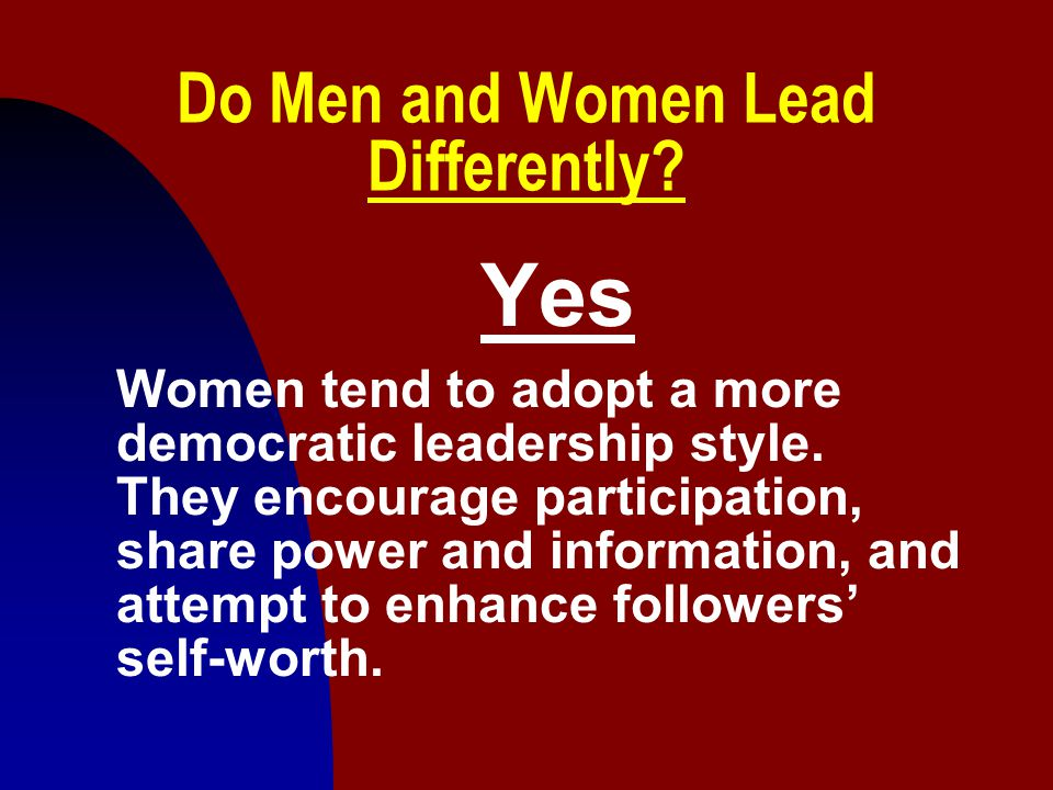 Do Men and Women Lead Differently
