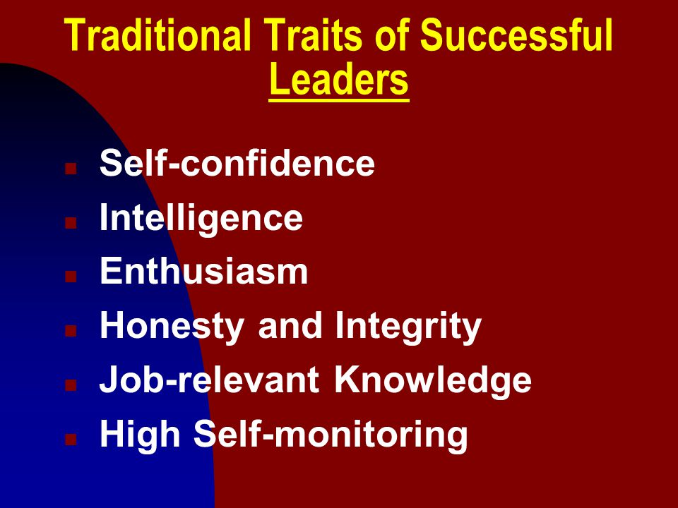 Traditional Traits of Successful Leaders