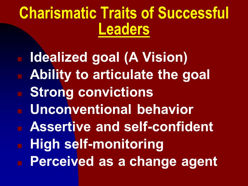 Charismatic Traits of Successful Leaders