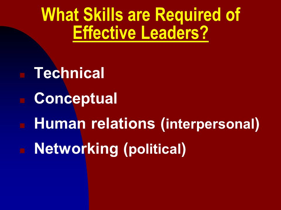 What Skills are Required of Effective Leaders