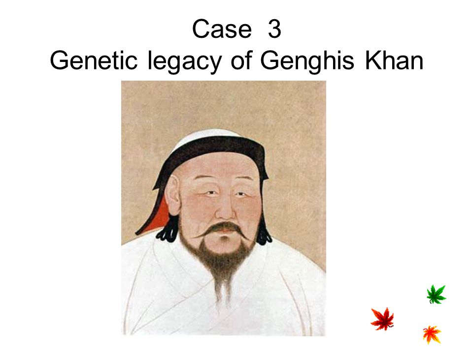Case 3 Genetic legacy of Genghis Khan
