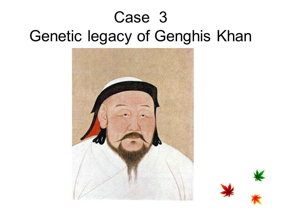 Case 3 Genetic legacy of Genghis Khan