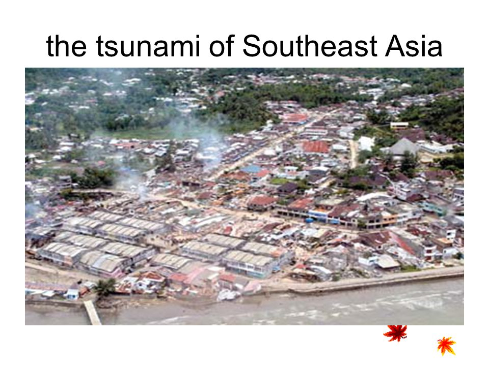 the tsunami of Southeast Asia