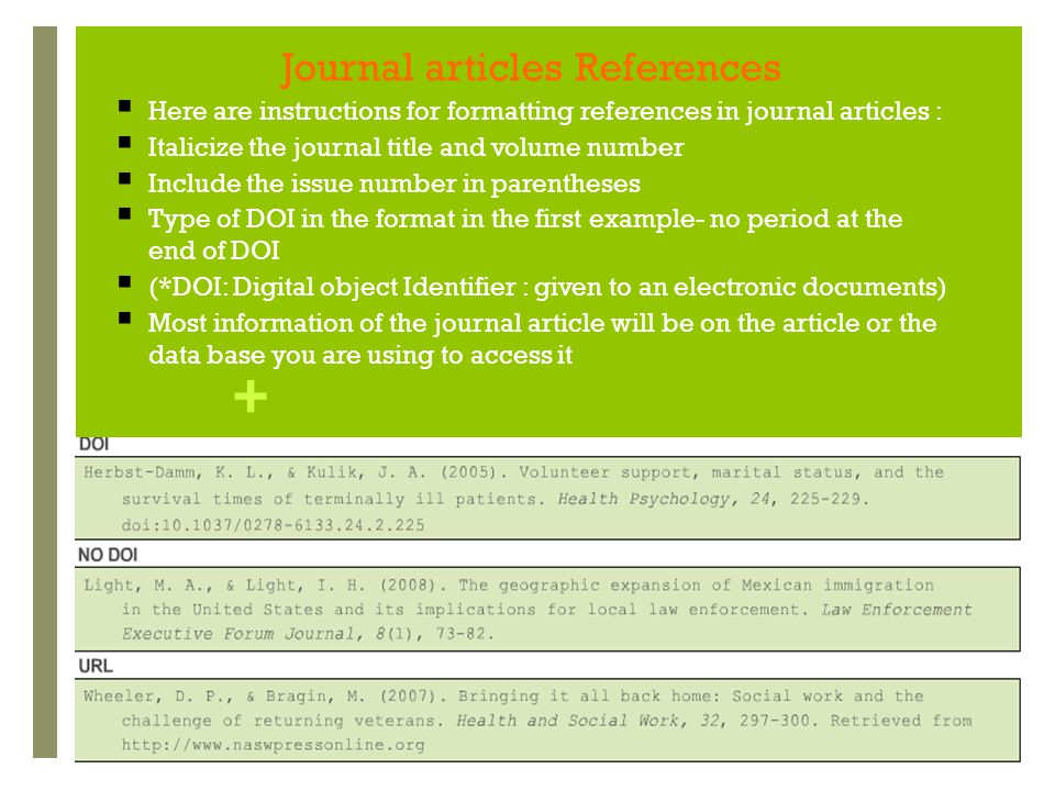 Journal articles References