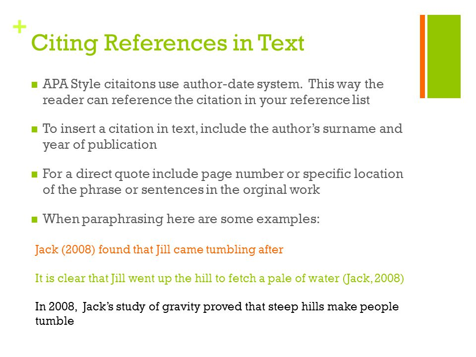 Citing References in Text