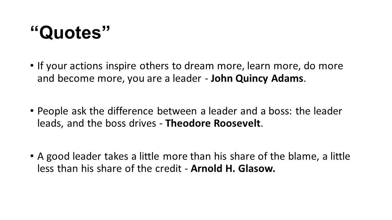 Good Leadership Quotes Keys To Good Leadership  Ppt Video Online Download