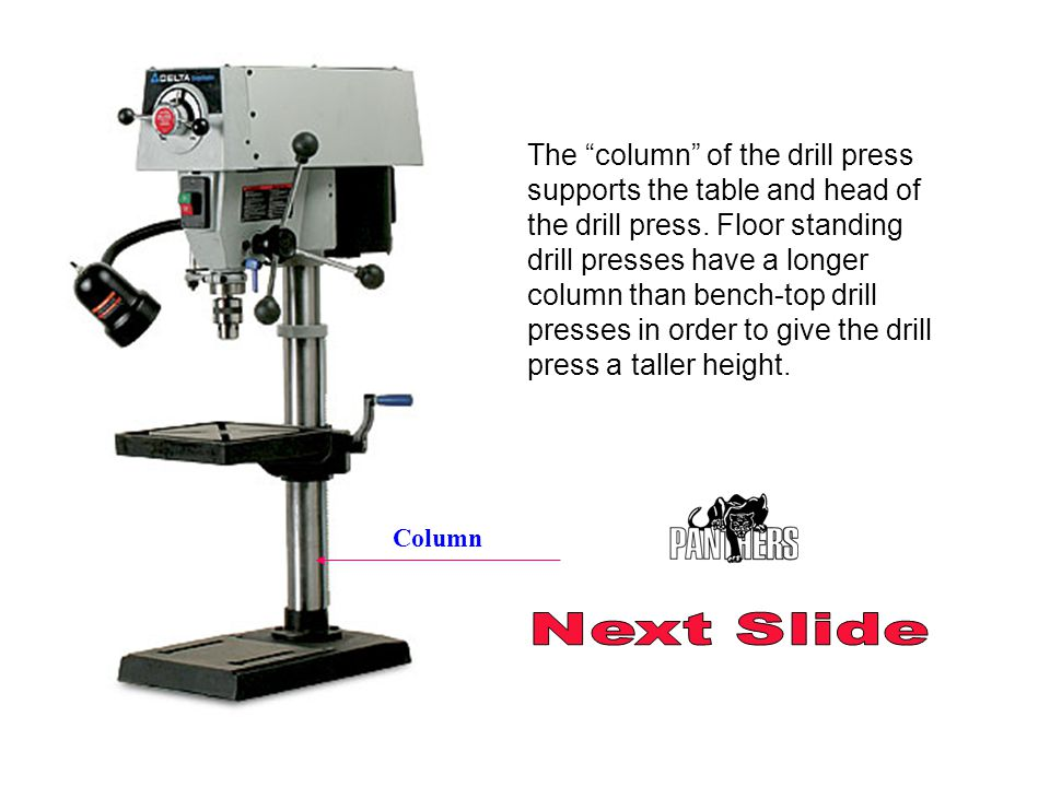 next slide introduction to the drill press createdmr. heck