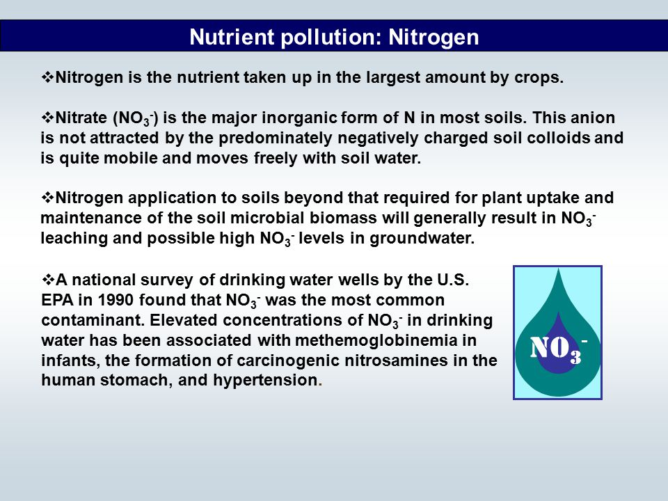 Nutrient pollution: Nitrogen