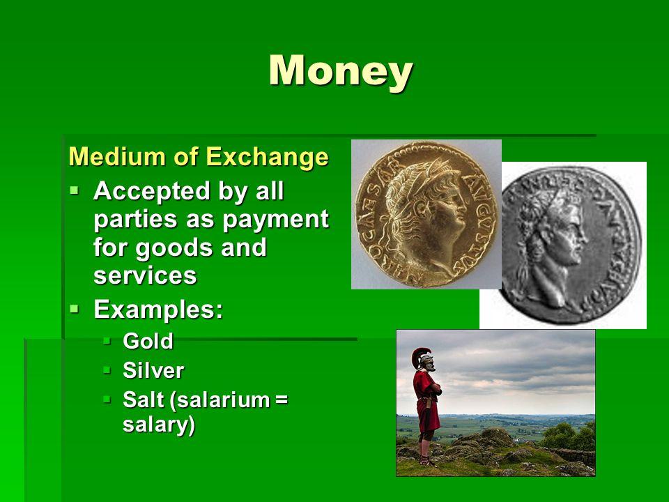 Money exchange definition