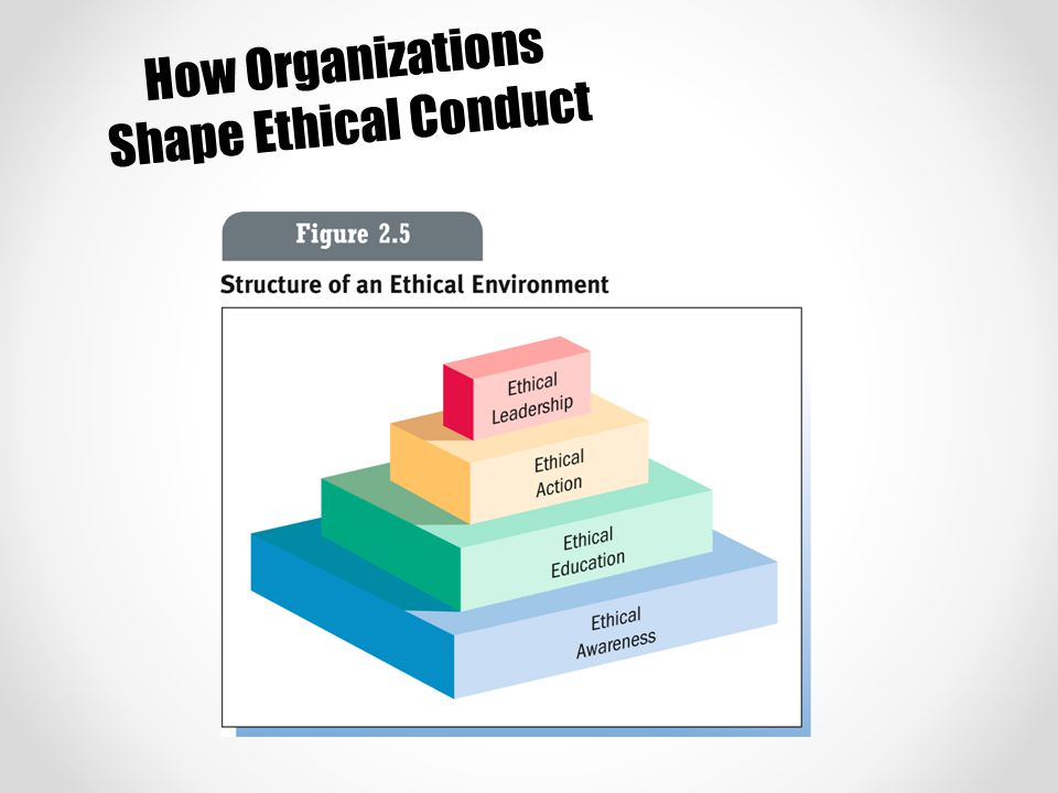 How Organizations Shape Ethical Conduct