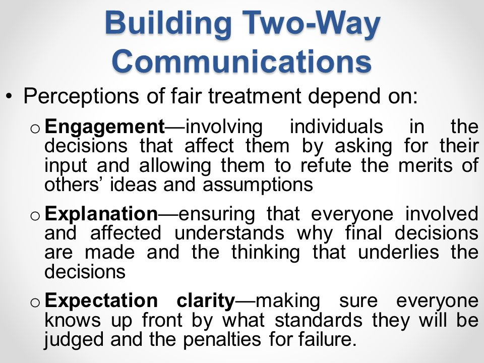Building Two-Way Communications