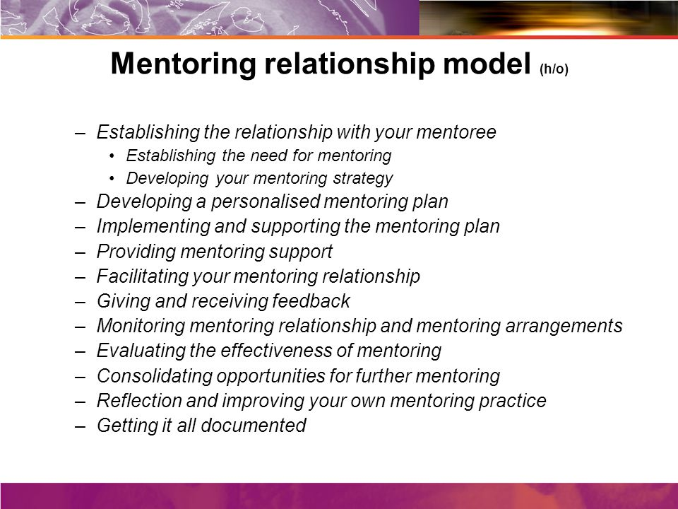 effectiveness of mentoring Five key steps for effective mentoring relationships the kaitz quarterly q1 2007 volume 1, issue 1 3 the traditional function of a mentor is sponsorship.