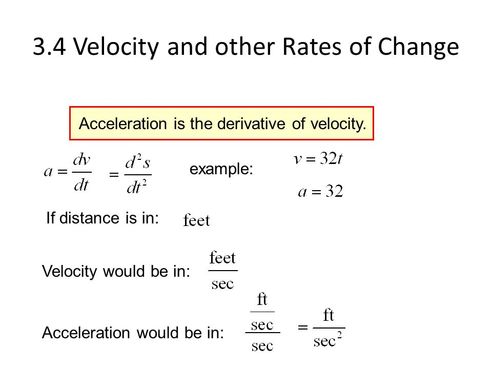 3.4 Velocity and Rates of Change - ppt video online download