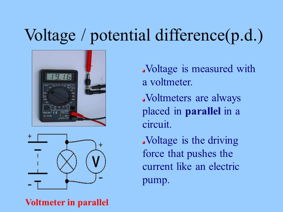 Voltmeter In Parallel : Electricity show video clip on introduction to