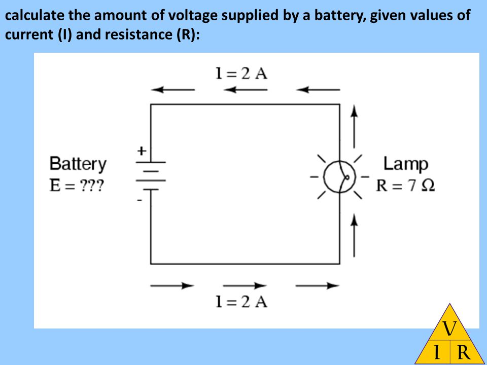 battery resistor circuit interplay between the voltage