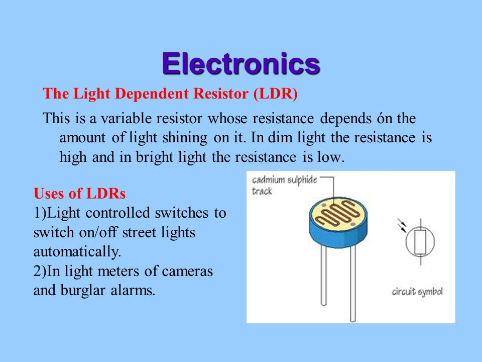 A light dependent resistor essay Coursework Academic Writing Service ...
