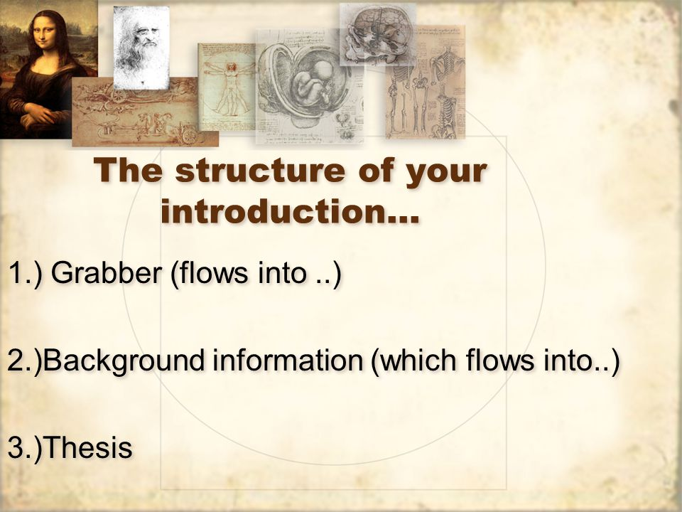 The structure of your introduction…