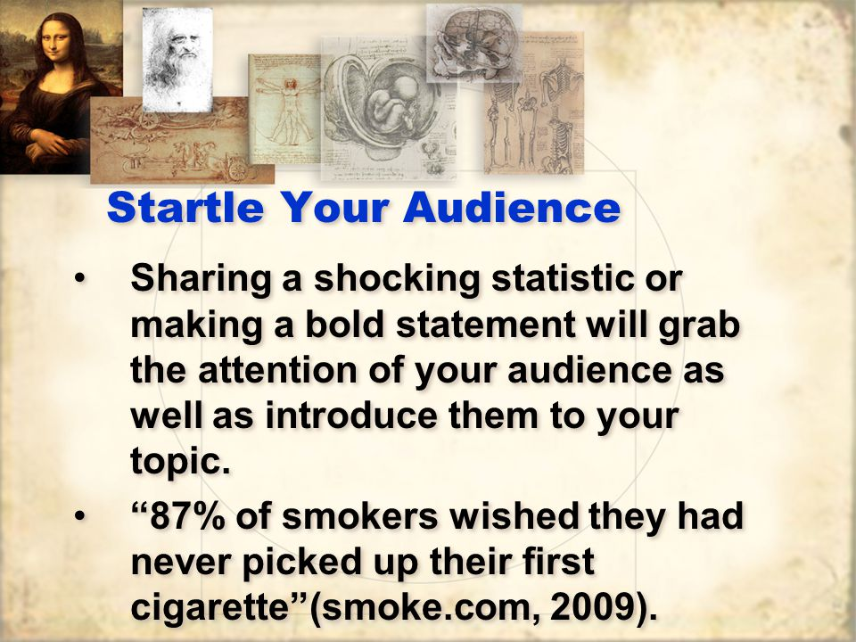 Startle Your Audience