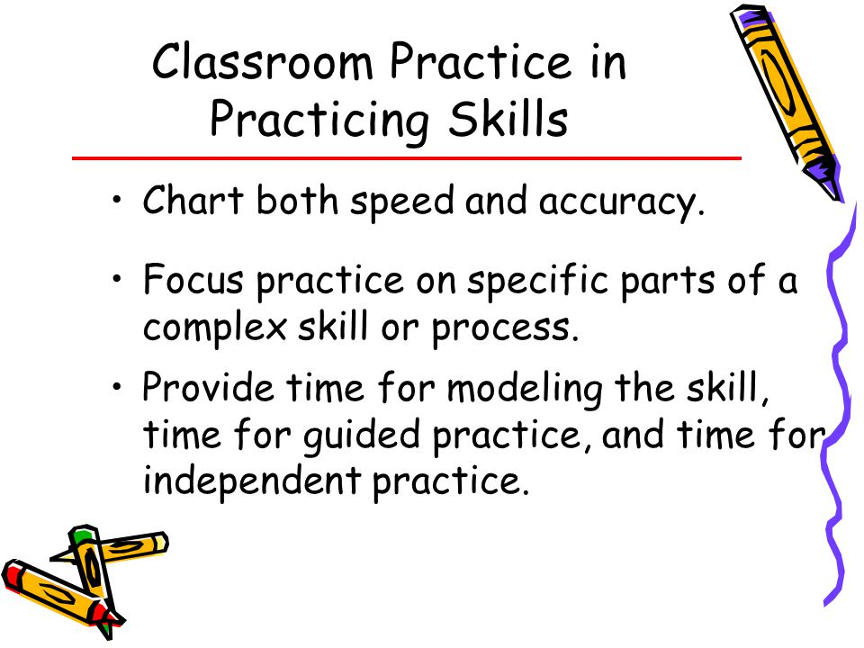 Classroom Practice in Practicing Skills