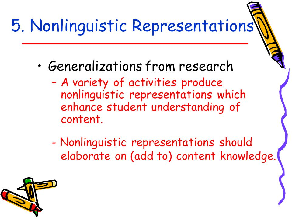 5. Nonlinguistic Representations