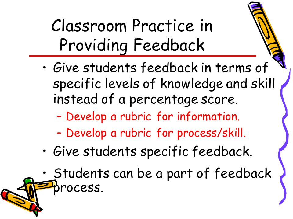 Classroom Practice in Providing Feedback
