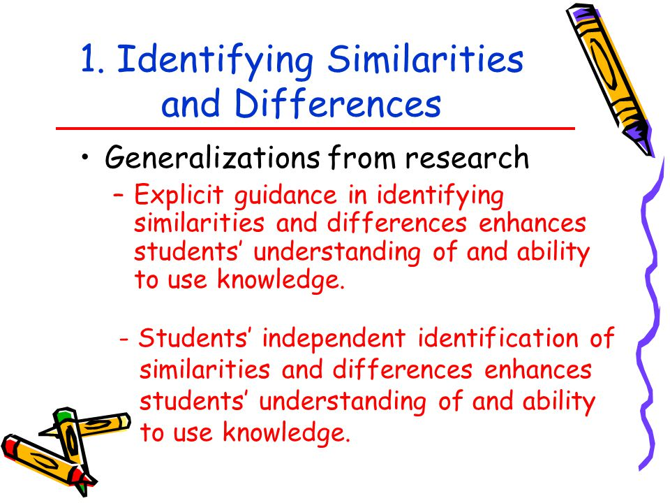 1. Identifying Similarities and Differences