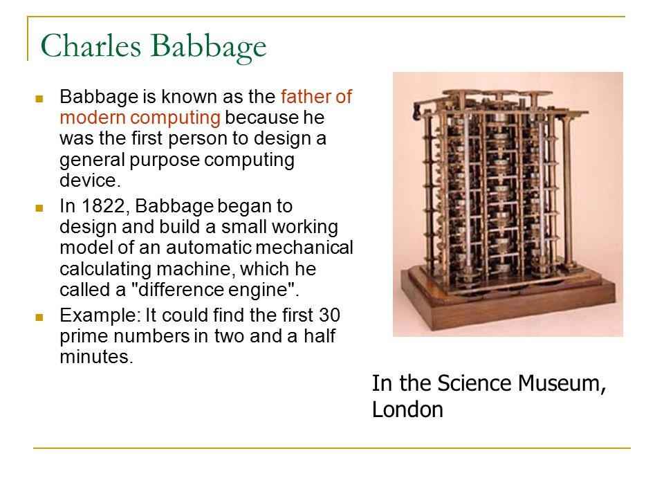 Charles Babbage In the Science Museum, London