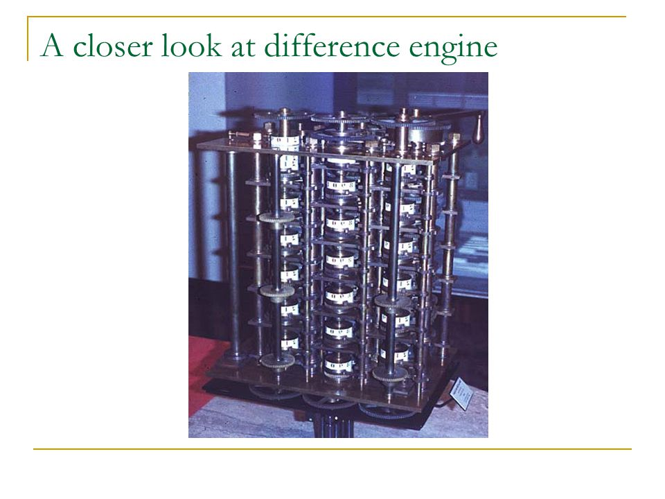 A closer look at difference engine