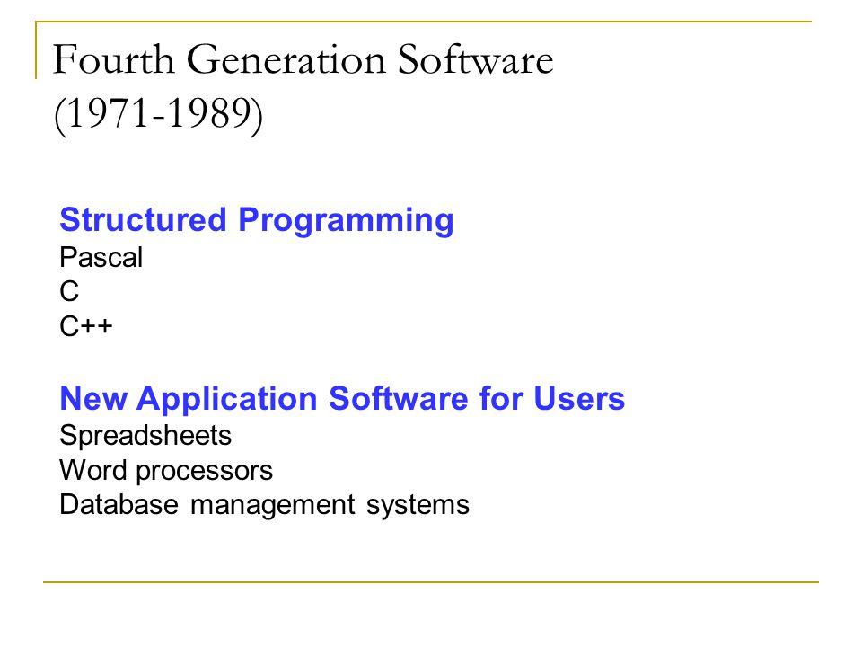 Fourth Generation Software (1971-1989)