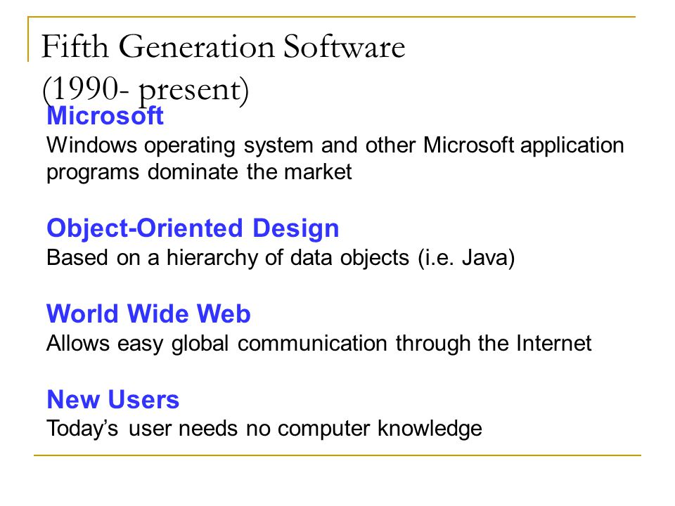 Fifth Generation Software (1990- present)